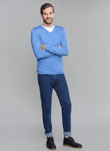 People By Fabrika Baharlık Triko Mavi